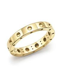 18K Yellow Gold Symphony Dotted Ring
