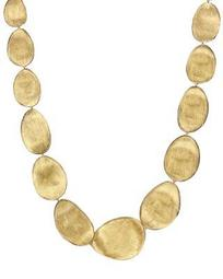 18K Yellow Gold Lunaria Collar Necklace, 18.5""