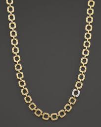 """18K Yellow and White Gold Mini Diamond Pois Moi Collar Necklace, 16"""""""