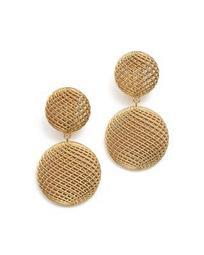 18K Yellow Gold Silk Drop Earrings