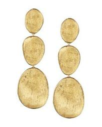 18K Yellow Gold Lunaria Three Drop Earrings