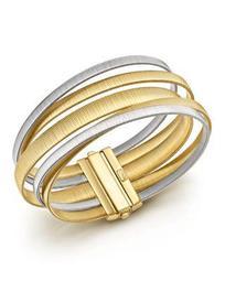 18K White & Yellow Gold Masai Five Strand Crossover Bracelet