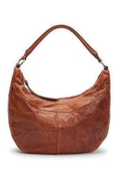 Veronica Leather Zip Hobo Bag