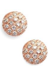 'Lauren Joy' Diamond Disc Stud Earrings