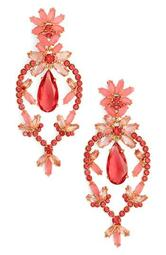 floral statement drop earrings