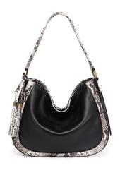 Cadence Snake Print Leather Bag