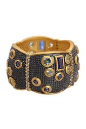 Bezel Set CZ & Multigrain Trim Scallop Shape Cigar Ring - Size 8