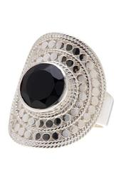 Sterling Silver Black Onyx Large Cocktail RIng