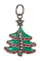 Antique Sterling Silver Marcasite Tree Charm