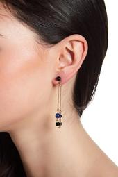 Ulli Beaded Lapis Front & Back Dangle Earrings