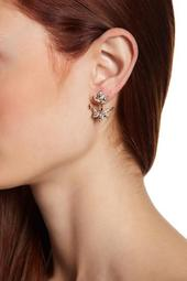 Marquise & Pear-Cut Glass Crystal Front & Back Earrings