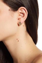 Multi-Cut Crystal Stud Earrings