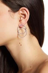 Pave Crystal Double Hoop Earring Jackets