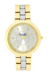 Women's Wind-Up Two-Tone Crystal Bracelet Watch, 38mm