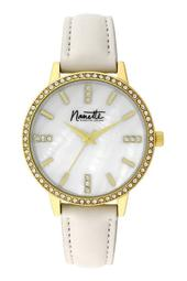 Women's Wind-Up Crystal Leather Strap Watch, 36mm
