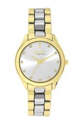 Women's Wind-Up Two-Tone Crystal Bracelet Watch, 34mm