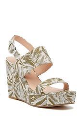 Jordan Pattern Wedge Platform Sandal