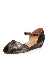 Women's Lily Moon Leather Wedge Flats