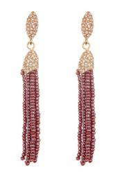 Seed Beaded Tassel Earrings