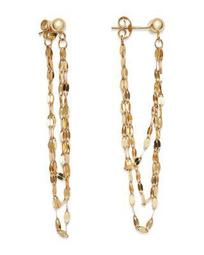 Draped Triple Chain Drop Earrings in 14K Yellow Gold - 100% Exclusive