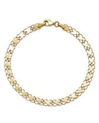 Mirrored Heart Link Bracelet in 14K Yellow Gold - 100% Exclusive