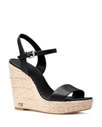Women's Jill Leather Espadrille Wedge Sandals