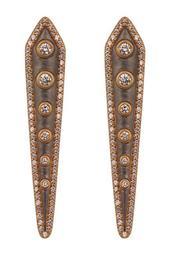 CZ Studded Kite Earrings
