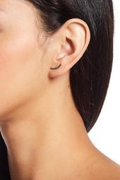 Two-Tone Black Stone Ear Climber Earrings