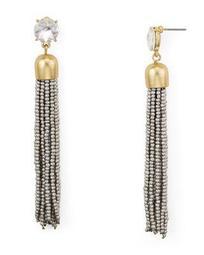 Metallic-Finish Tassel Drop Earrings - 100% Exclusive