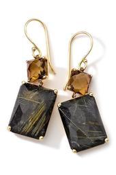 Rock Candy 18K Yellow Gold Prong Set Double Drop Earrings