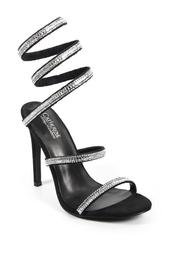 Click Crystal Embellished Wrapped Stiletto Sandal