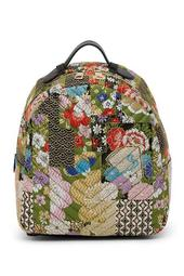 Lyla Patchwork Brocade Backpack