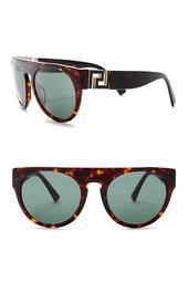 Men's Round 55mm Sunglasses