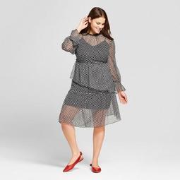 Women's Plus Size Asymmetric Hem Dress - Who What Wear™