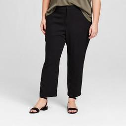 Women's Plus Size Ankle Joggers - A New Day ™ Black