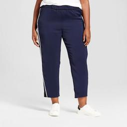 Women's Plus Size Track Pants - Ava & Viv™ Navy