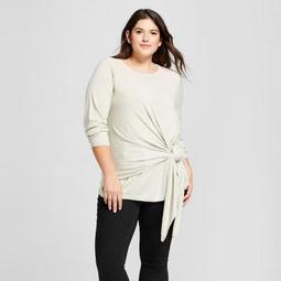 Women's Plus Size Tie Front Sweater - A New Day™
