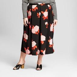 Women's Plus Size Birdcage Midi Skirt - Who What Wear™