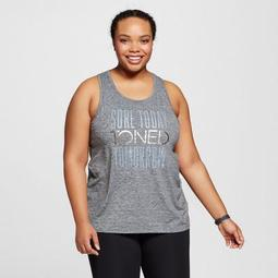 Women's Plus-Size Graphic Muscle Tank - Black Heather - C9 Champion®