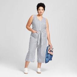 5a6bdee375fd Universal Thread™ Women s Plus Size Cropped Stripe Jumpsuit -