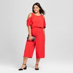 Women's Plus Size Cold Shoulder Jumpsuit - Xhilaration™ Red