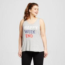 Women's Plus Size Happy Weekend Tank Athletic Heather - Grayson Threads (Juniors')