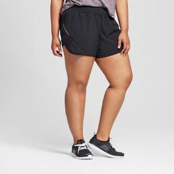 Women's Plus-Size Premium Run 2-in-1 Shorts - C9 Champion® - Black/Quartz Gray