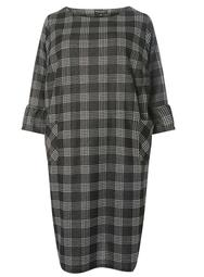 DP Curve Monochrome Checked Shift Dress