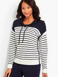 Striped Hooded Popover
