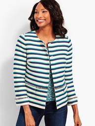 Stripe Fringe Jacket