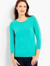Cashmere Keyhole-Back Sweater