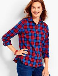 The Classic Cotton Shirt - Gingerbread Plaid