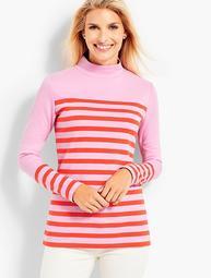 Calder Stripe Mockneck Knit Top