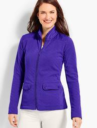 Diamond-Textured Fleece Jacket
